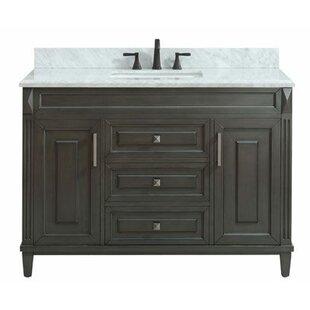 Reviews Potvin Marble Top 49 Single Bathroom Vanity Set ByGracie Oaks