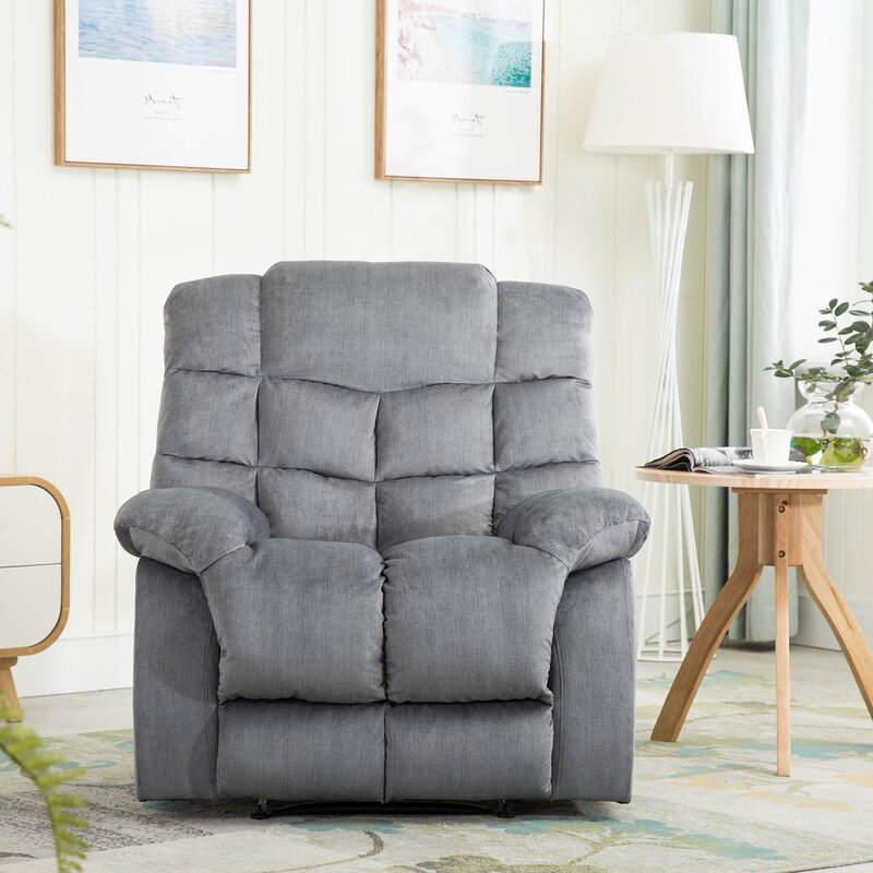Winston Porter Bonzy Manual Recliner Living Room Chairs With
