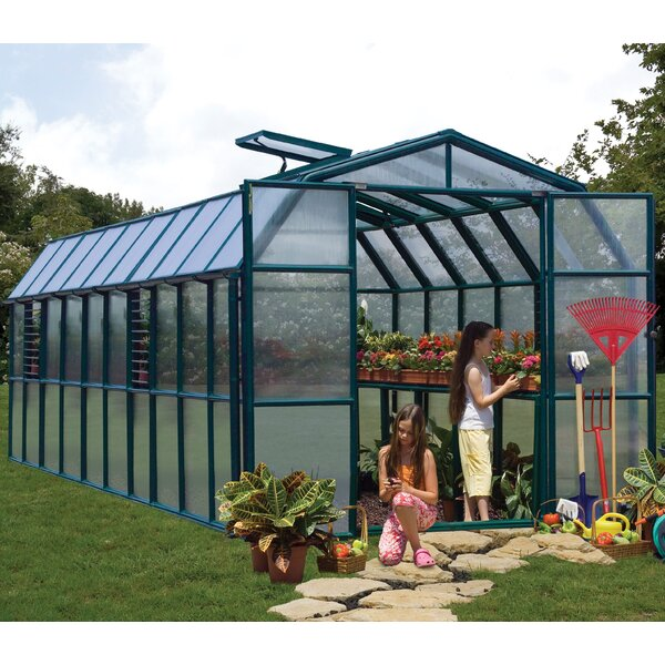 Grand Gardener 2 Twin Wall 8 Ft. W x 20 Ft. D Greenhouse by Rion Greenhouses