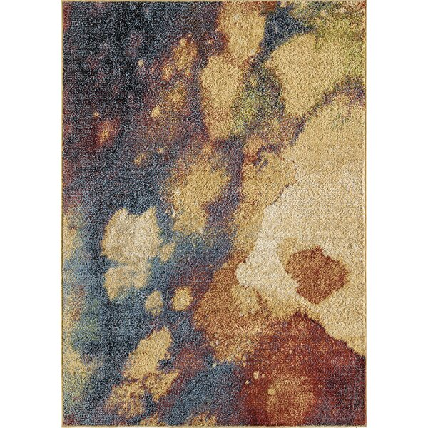 Mckissick Yellow/Blue Area Rug by Wrought Studio