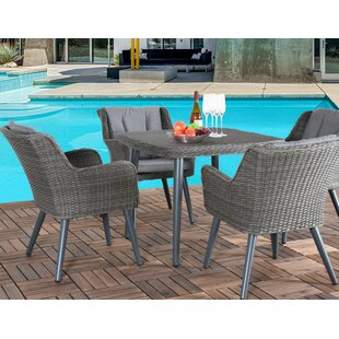 Matthias 5 Piece Dining Set with Cushions By Bungalow Rose