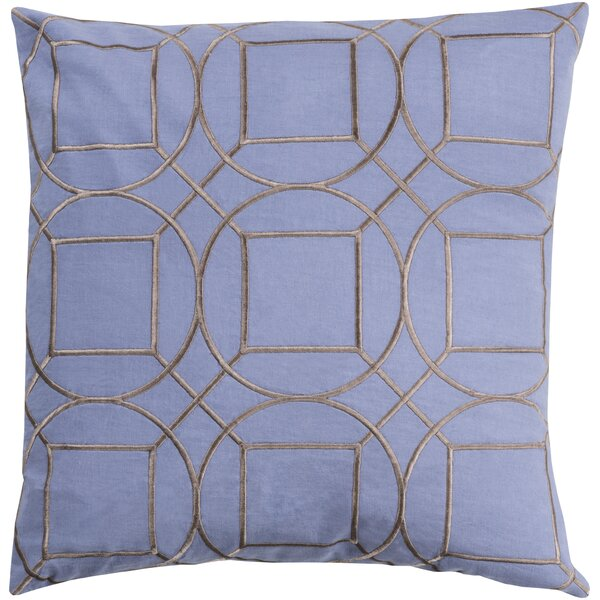 Lambda Linen Throw Pillow by Mercury Row