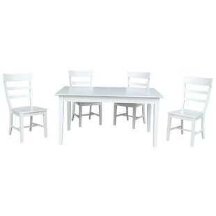 Davina 5 Piece Extendable Solid Wood Dining Set By Alcott Hill
