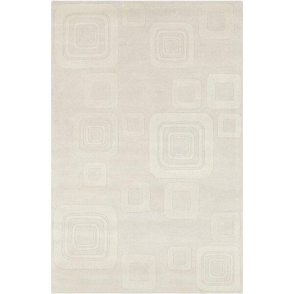 Oritz Hand Tufted Wool Beige/Cream Area Rug by Brayden Studio