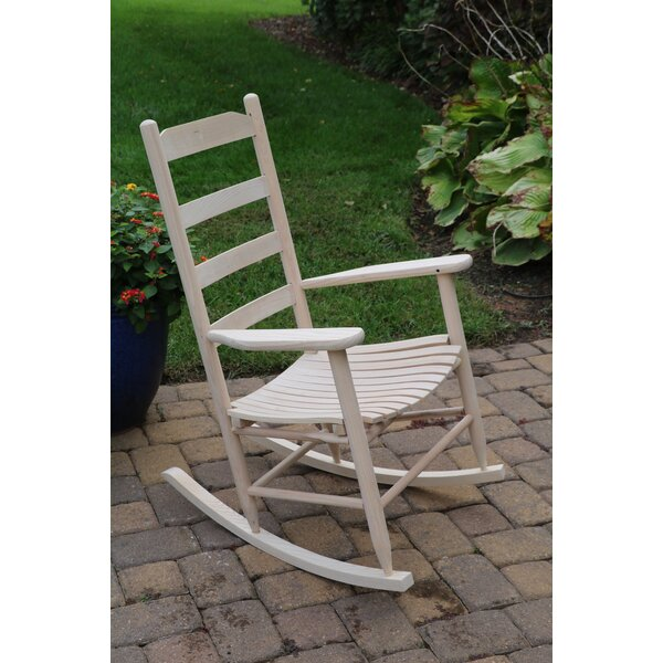 Medora Ladder Back Adult Rocking Chair by August Grove
