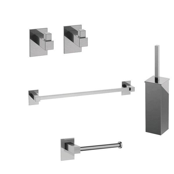 Taca Self-Adhesive 5 Piece Bathroom Hardware Set by WS Bath Collections