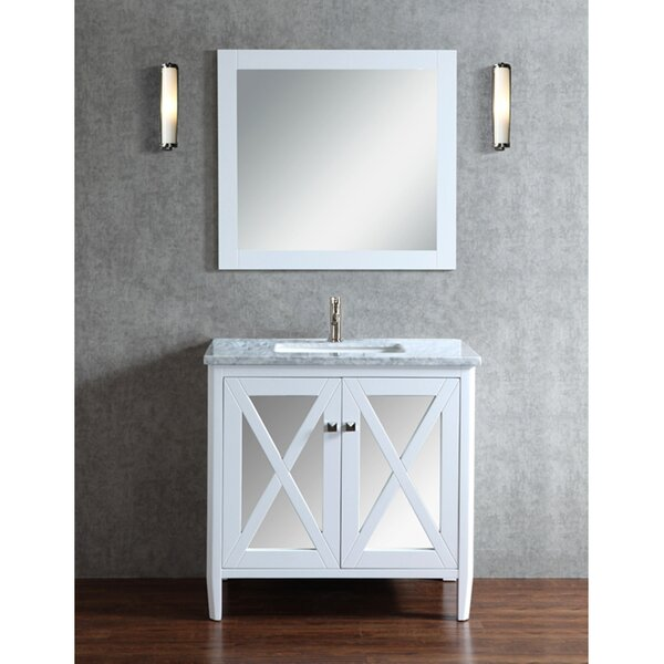 Denker 24 Single Bathroom Vanity Set with Mirror by Brayden Studio