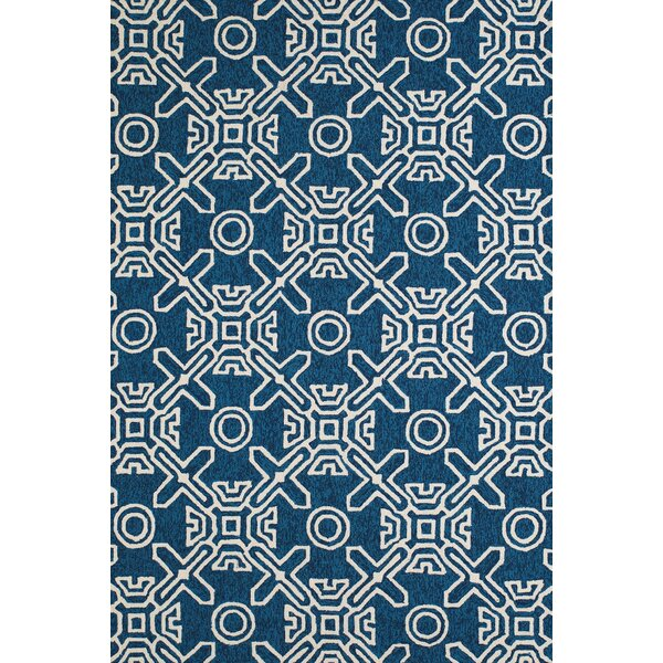 Maui Hand-Woven Cyan Indoor/Outdoor Area Rug by Panama Jack Home