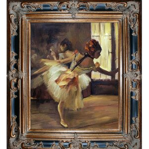 'Repetition of the Dance' by Edgar Degas Framed Painting on Canvas by Tori Home