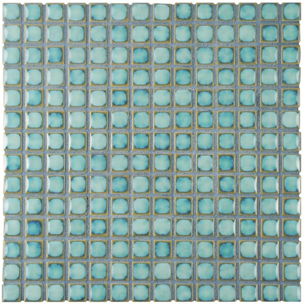 Morgan 0.72 x 0.72 Porcelain Mosaic Tile in Marine Blue by EliteTile