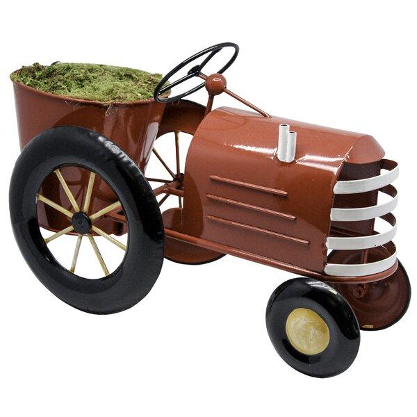 Amaker Tractor Wheelbarrow Planter by Zoomie Kids