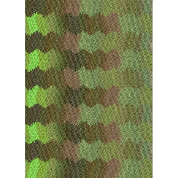 Abstract Wool Green/Brown Area Rug
