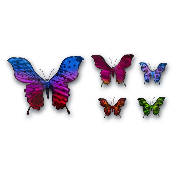 5 Piece Butterfly Wall Décor Set by Ebern Designs