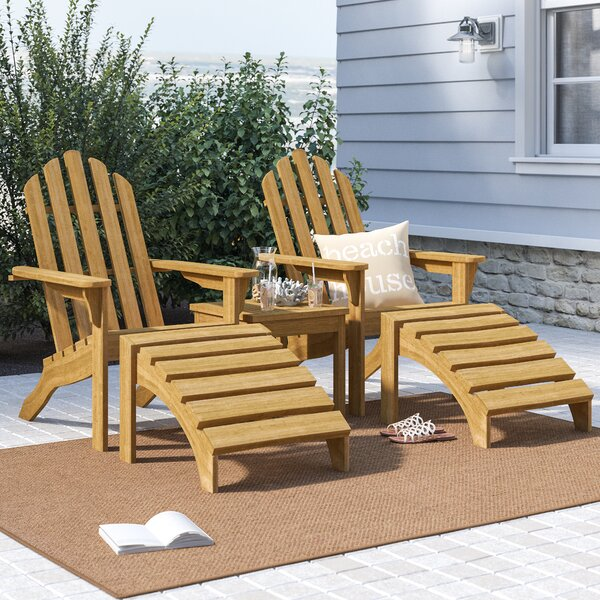Harpersfield Classic 5 Piece 2 Person Seating Group by Beachcrest Home