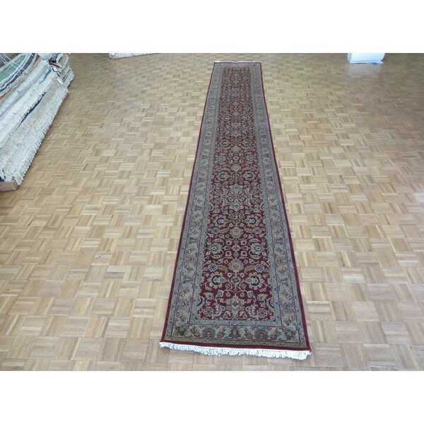 One-of-a-Kind Railey Hand-Knotted Wool Burgundy Area Rug by Astoria Grand
