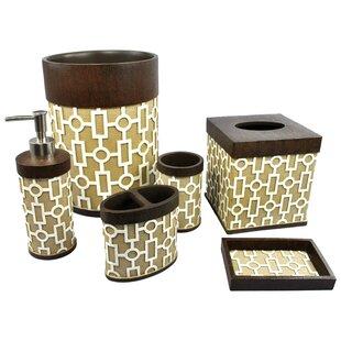 Read Reviews Linear 6-Piece Bathroom Accessory Set BySherry Kline