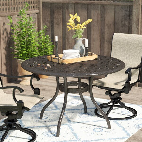 Usrey Outdoor Aluminum Dining Table by Darby Home Co
