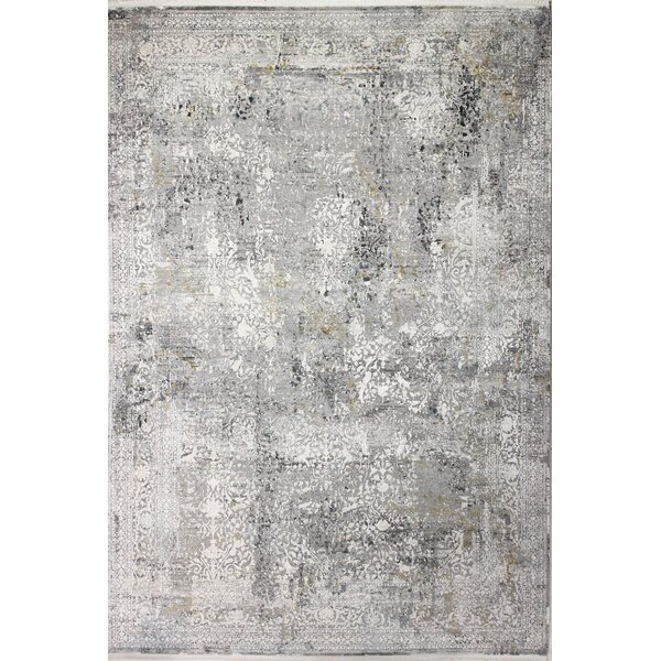 Yearby Abstract Gray Area Rug