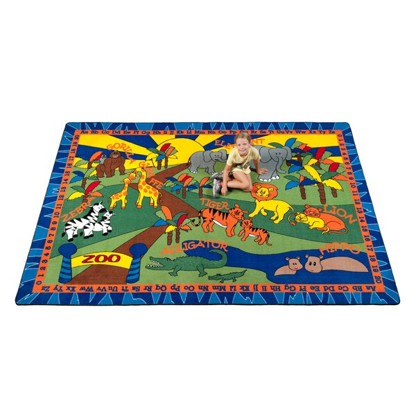 Animals at the Zoo Area Rug by Kid Carpet
