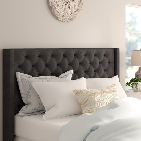 Neher Upholstered Wingback Headboard By Brayden Studio by Brayden Studio New Design