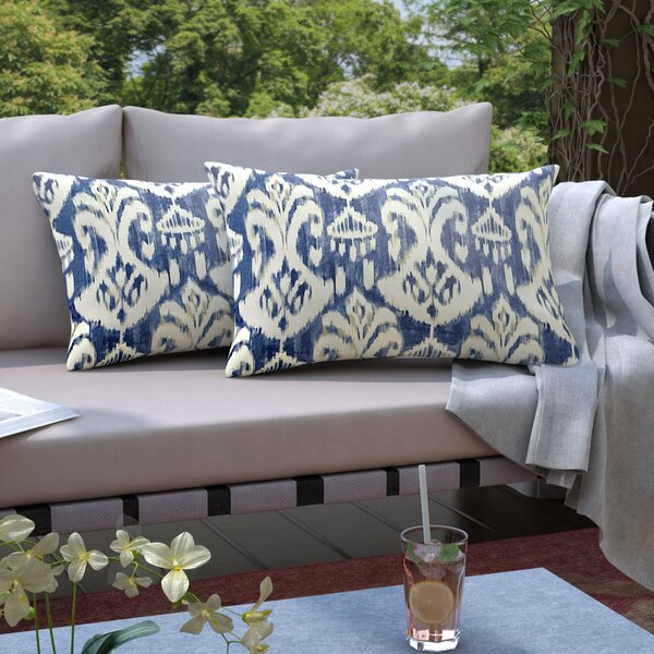 Pederson Indoor/Outdoor Lumbar Pillow (Set of 2) by Andover Mills