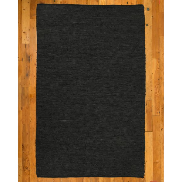 Hand-Loomed Black Area Rug by Natural Area Rugs