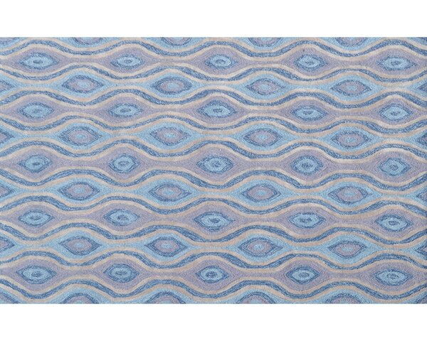 Tristan Hand-Hooked Blue Indoor/Outdoor Area Rug by Threadbind