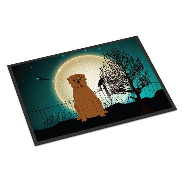 Halloween Scary Dogue De Bordeaux Doormat by Caroline's Treasures