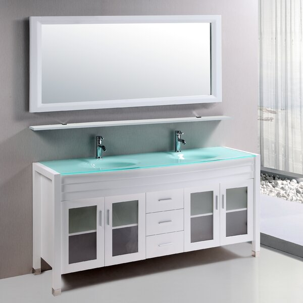 Amriel 59 Double Bathroom Vanity Set with Mirror by Kokols