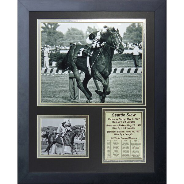 Seattle Slew 1977 Triple Crown Winner Framed Memorabilia by Legends Never Die