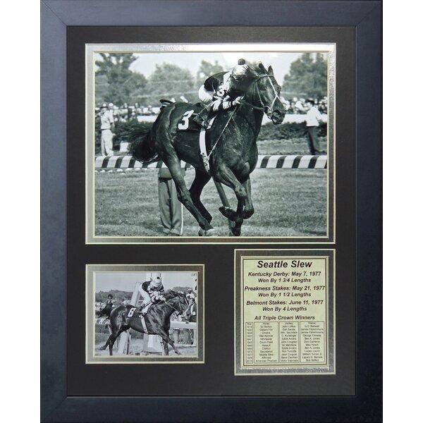 Seattle Slew 1977 Triple Crown Winner Framed Memorabilia by Legends Never Die