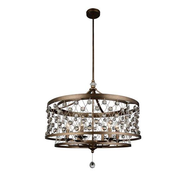 Tieda 6-Light Drum Chandelier by CWI Lighting CWI Lighting