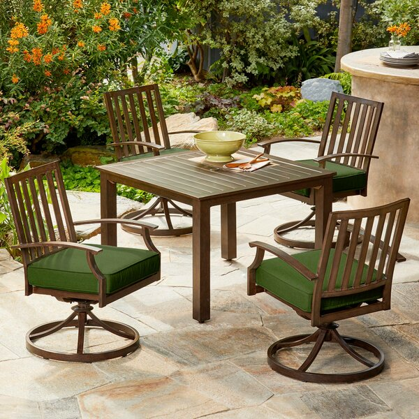 Yandel Bridgeport 5 Piece Dining Set with Cushions by Darby Home Co