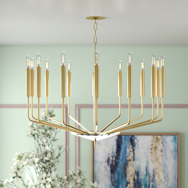 Delrick 14 - Light Candle Style Classic / Traditional Chandelier By Willa Arlo Interiors