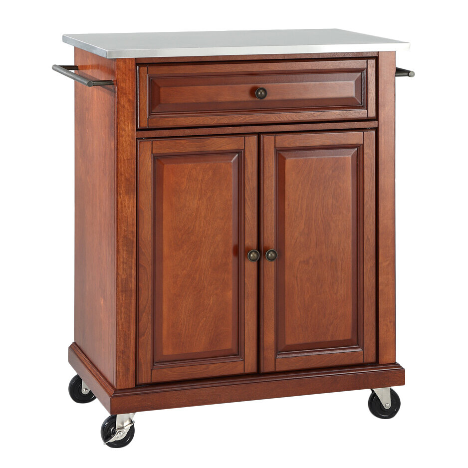Hedon Kitchen Cart With Stainless Steel