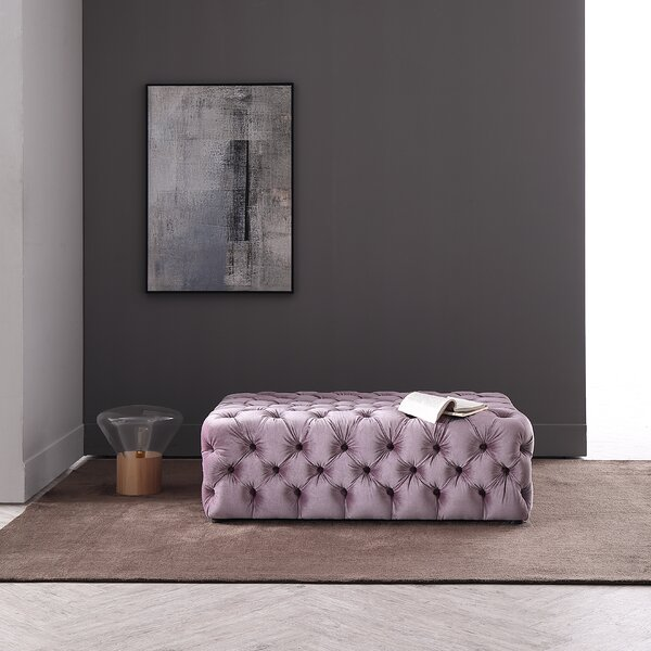 Tucker Tufted Ottoman by Everly Quinn