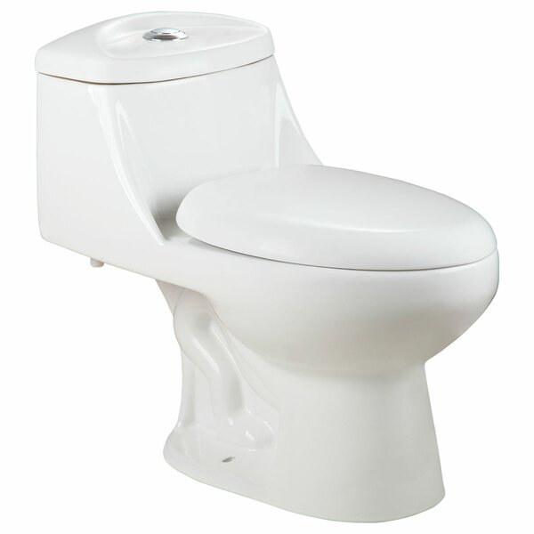 Dual Flush Elongated One-Piece toilet by LessCare