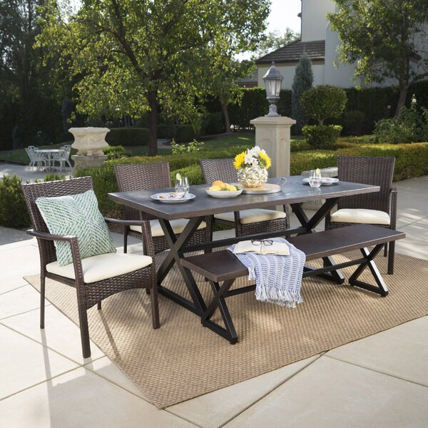 Netherby 6 Piece Dining Set with Cushions