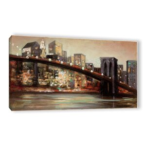 NYC after Hours Painting Print on Wrapped Canvas by Zipcode Design