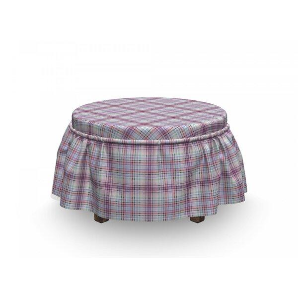 Checkered Folklore Irish Design 2 Piece Box Cushion Ottoman Slipcover Set By East Urban Home
