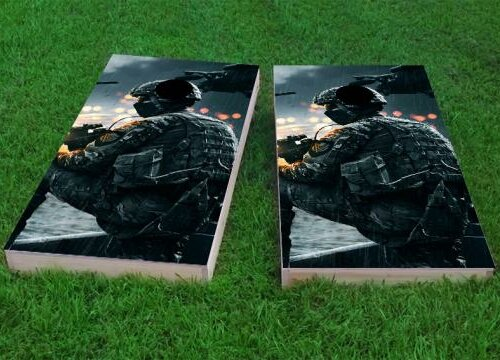 Soldier Cornhole Game (Set of 2) by Custom Cornhole Boards