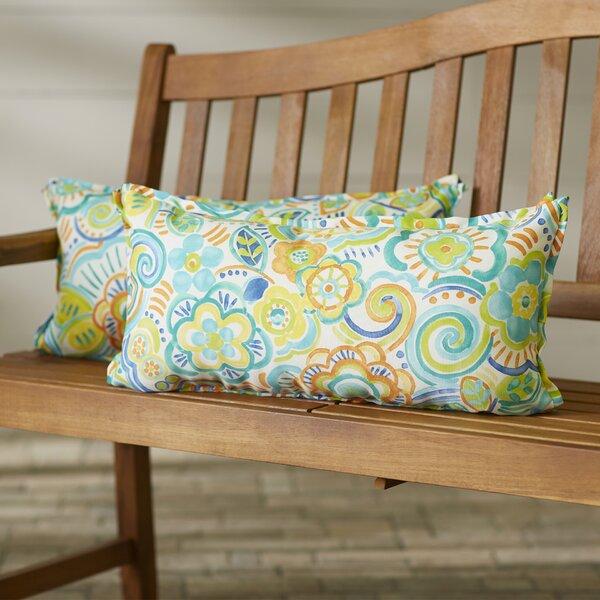 State Line Indoor/Outdoor Lumbar Pillow (Set of 2) by Bungalow Rose