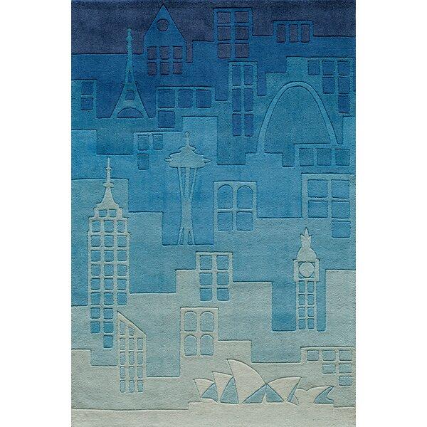 Krohn Hand-Tufted Blue Kids Rug by Viv + Rae
