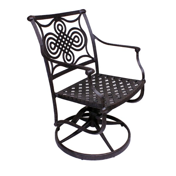 Juanita Rocker Swivel Patio Dining Chair (Set of 2) by Alcott Hill