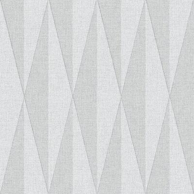 Brewster Home Fashions Wall Vision 33' x 20.9 Zack Diamond Geometric Wallpaper Color: Gray