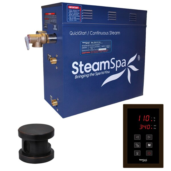 Oasis 6 kW QuickStart Steam Bath Generator Package by Steam Spa