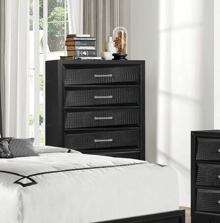 Oona 5 Drawer Chest by Wrought Studio
