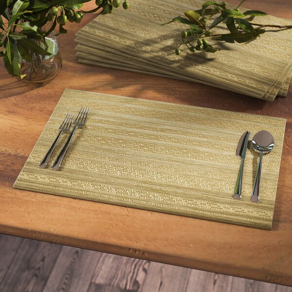 Mccullough Metallic Basket Weave Placemat (Set of 6) by Union Rustic