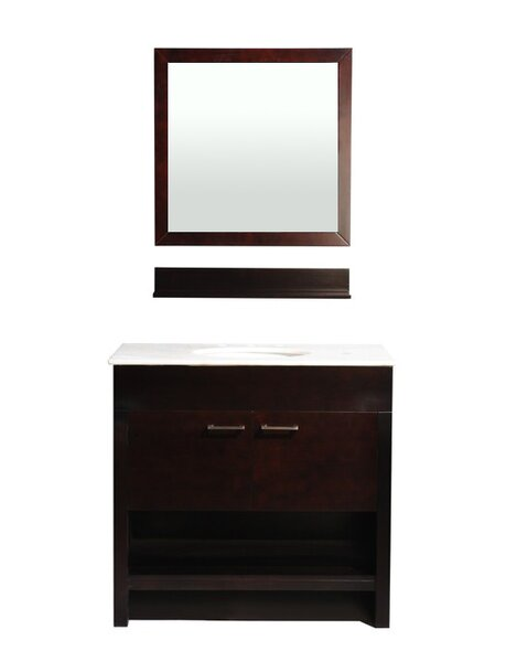 Auburn 36 Single Bathroom Vanity Set with Mirror by Belmont Decor
