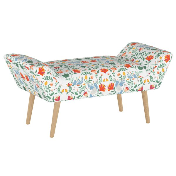 Swatzell Upholstered Bench by Bungalow Rose